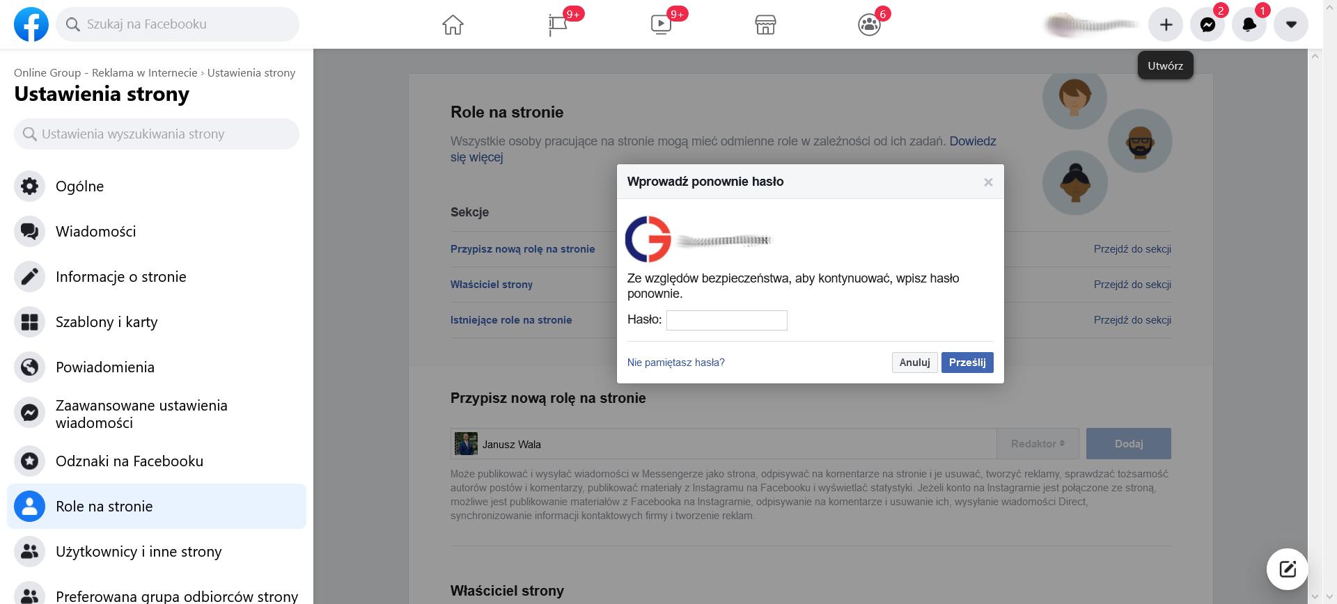 Role na Facebooku krok 3