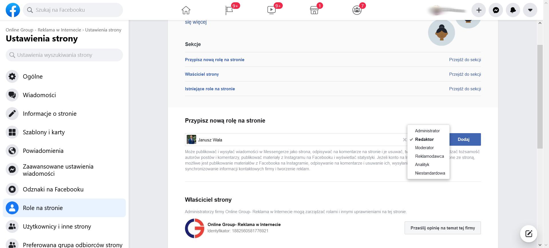 Role na Facebooku krok 4